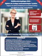 Multikanalstrategidagen 2016 – Digitala och Analoga marknadsstrategier i symbios