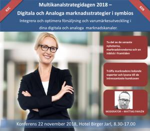 Multikanalstrategidagen 2018 – Digitala och Analoga marknadsstrategier i symbios